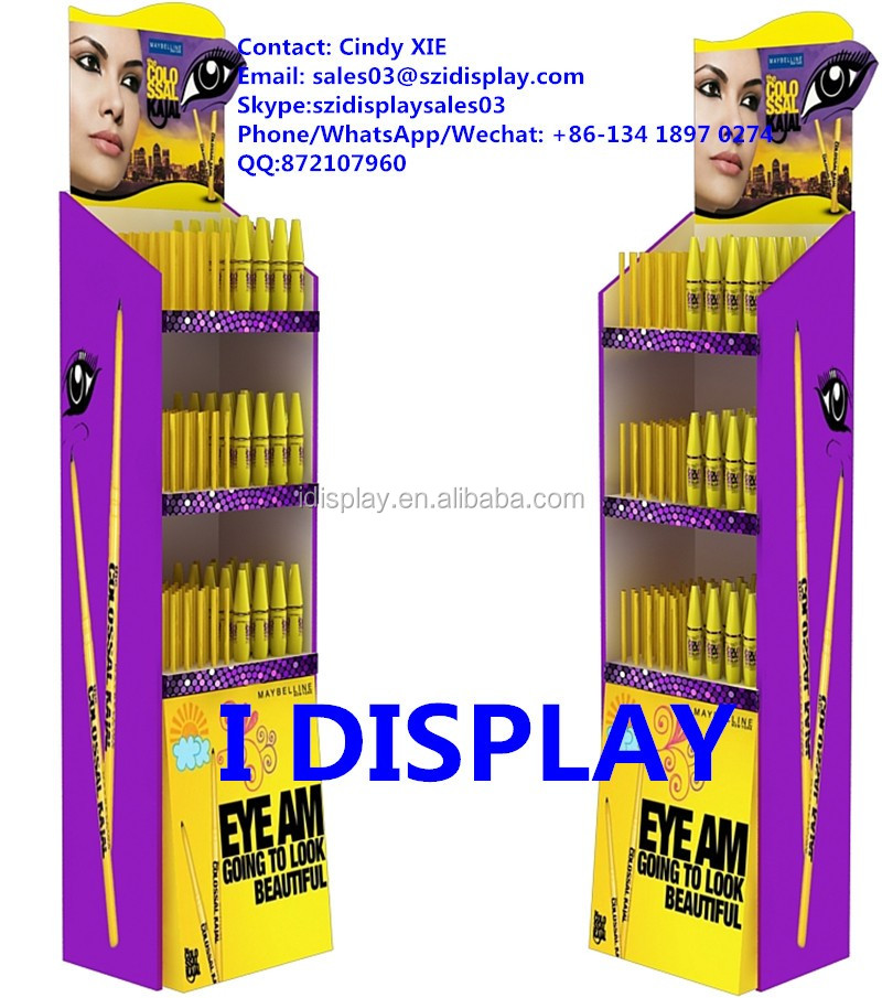 makeup mac cosmetic display stand with 3 tiers cosmetic display shelves