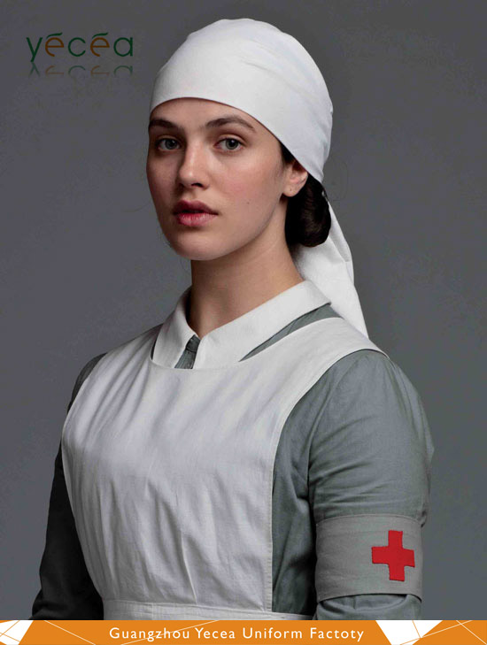 1920s Retro style Downton Abbey100%cotton hospital nurse/scrubs women medical wear uniform