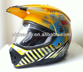 double visor cross helmet