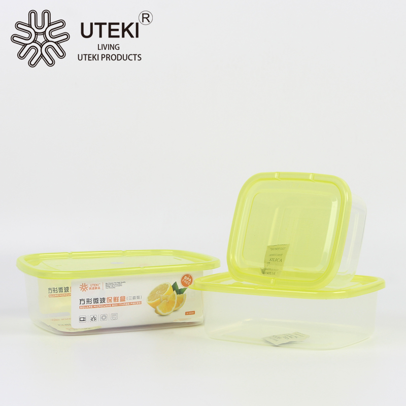 PP material fresh seal plastic food container set