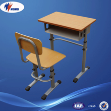 Economic Modern Standard Used Size School Desk and Chair Price for Single