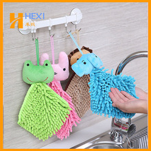 Cut Cartoon Chenille Product For Hand Towel Chenille Animal Kids Towel
