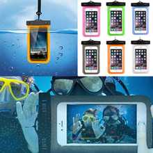 "WaterProof Swimming Camera Phone Bag Case Cover For iPhone Samsung 4"" to 6"""