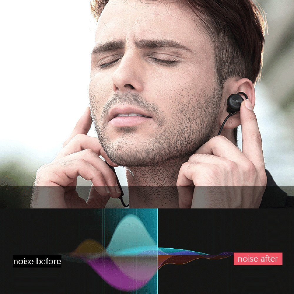 LESIRI HI-FI Stereo Bluetooth Headphone Wireless Metal Magnetic Suction Earphones for Sports & Running Workout Noise Cancelling (7)