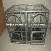 double dog cage with wheels and divider
