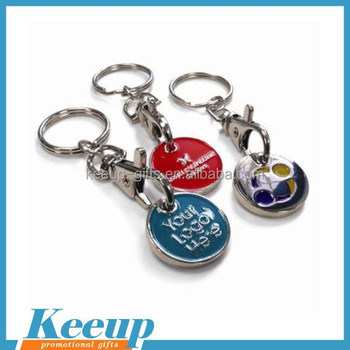 Shopping cart Trolley Coin Keychain for Promotion