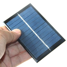 BUHESHUI 0.6W 6V Mini Solar Panel With Electric Wires Solar Cell DIY Small Solar System Education Kits 90*60MM Polycrystalline