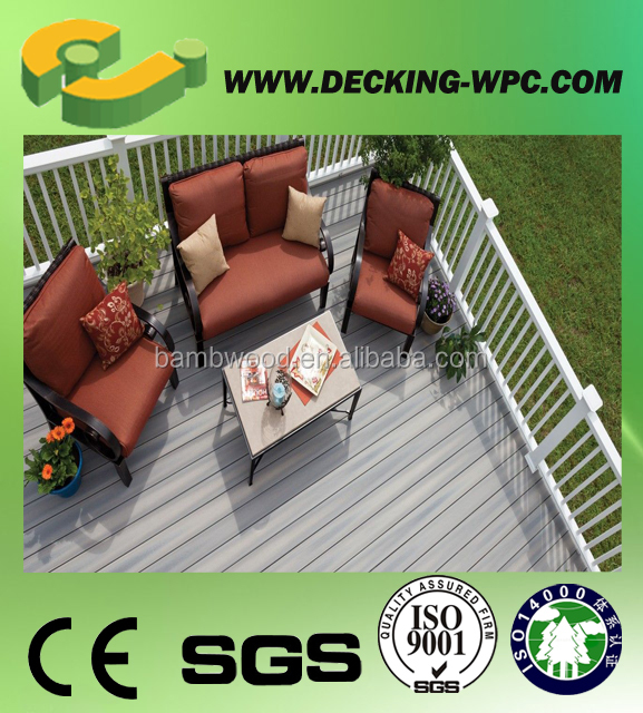 Anti-Slip WPC pergola out of the door