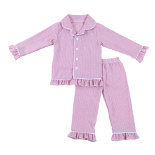 Baby Girls hot sale Fall Winter kids colthing flannel long sleeve cute sleepwear pajamas set