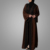 New Fashion Front Open Crepe Shrug with Lace Trims Jilbab Oversized Jalabiya Long Gown Dress Islamic Clothing