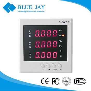 194E-9S4 3P3W panel meter with active energy, 400v high voltage, 5a current