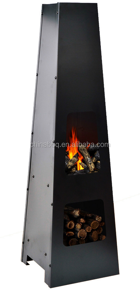 Chimenea with storage outdoor fireplace YH4412A