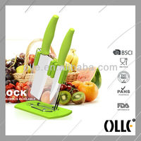 2pcs Beautiful Green Handle Kitchen Knife Set