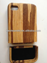 2014 hot sales new wooden cover shell phone / bamboo kindle case for iphone 5 / for iphone 5s bamboo cover