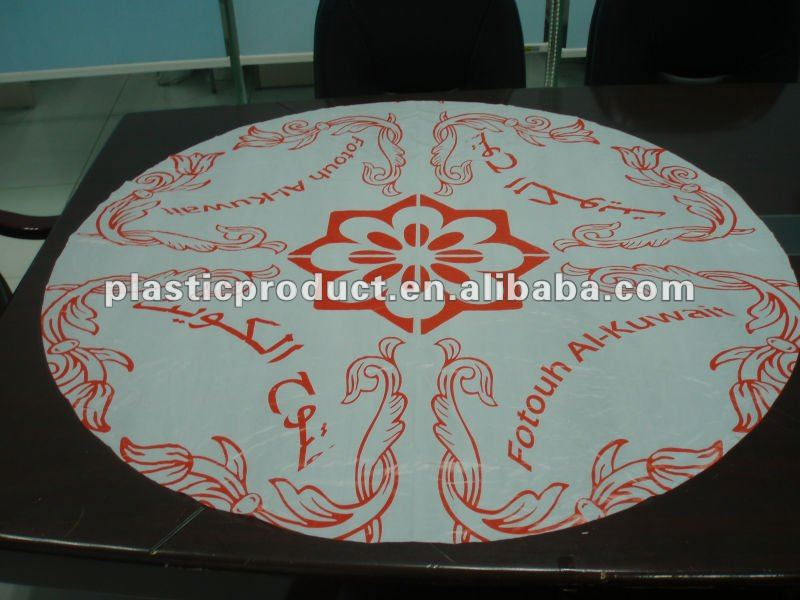 printed plastic tablecloth