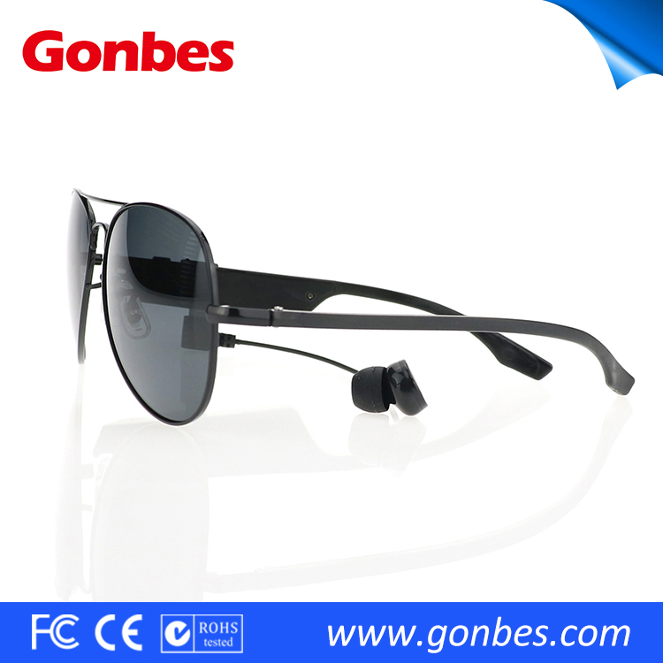 Detachable Headset Hands Free Phone Call Sunglasses Bluetooth Car Kit
