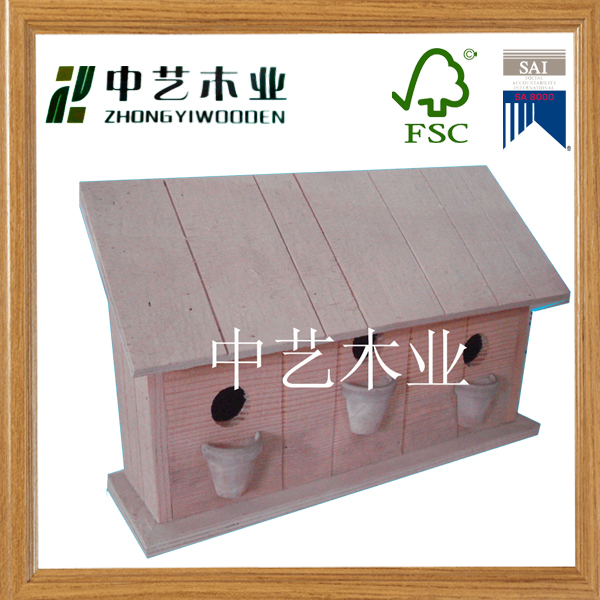 Wooden bird's nest Cage,new unfinished wooden bird house wholesale