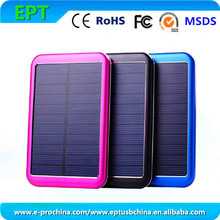 2015 New Product 5000mAh Waterproof Solar Power Bank, Alluminum Solar Mobile Charger