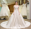 SL-82 Custom Made Wedding Dress Pearls Flowers Wedding Gown Bridal Dresses Alibaba 2017