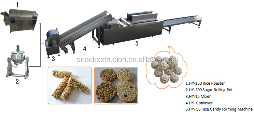 China Nutritional Snack Food Cereal Granola Bar processing line
