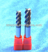high quality 4 flute flattened end mills, flat end mills, end mill cutter sizes