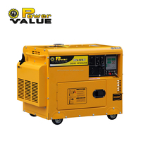 5kva ultra silent generator electric start 6500 diesel generator with wheels