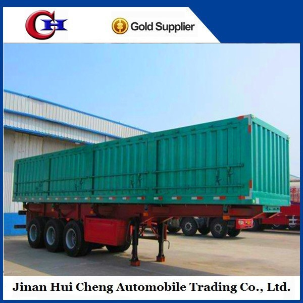 3 Axles Van Type Cargo Box Transportation Truck Trailer for Sale
