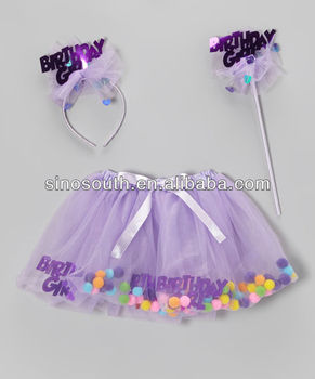 Wholesale birthday girl tutu dress set for kids