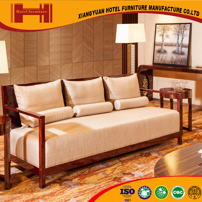 XY hotel equipment wood sofa set picture modern living room furniture