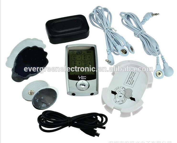 mini professional electronic muscle stimulator tens pulse therapy massager with CE ROHS Approval EG-TM10