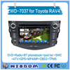 Top quality car media cd player for Toyota RAV4 mobile multimedia dvd gps navigation support wifi bluetooth swc ipod list phone