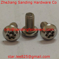 Stainless steel Pan head anti-theft drive machine screw