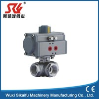 Superior quality modern type actuated carbon steel 3pc ball valve