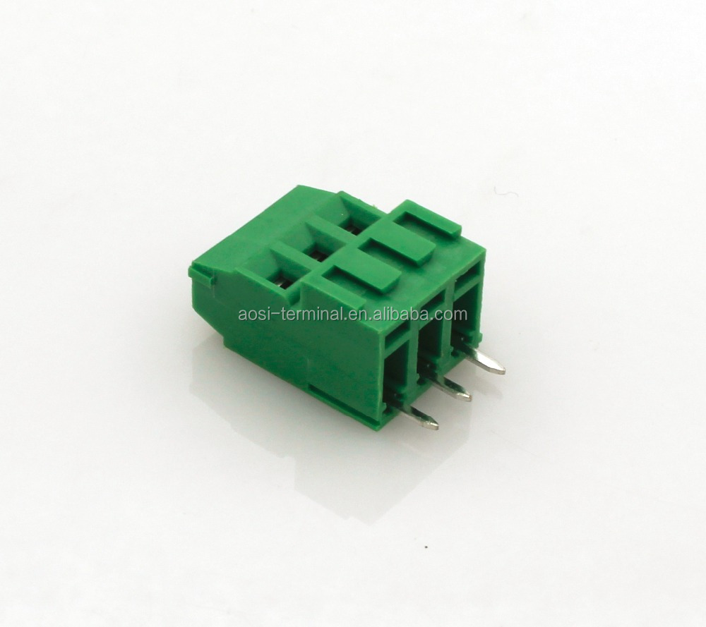 PCB screw pluggable terminal block high voltage FSEEK-5.0 5.08mm 3way rising clamp instead of phoenix contact terminal