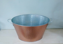 100% Waterproof Embossed Antique Tin Bucket