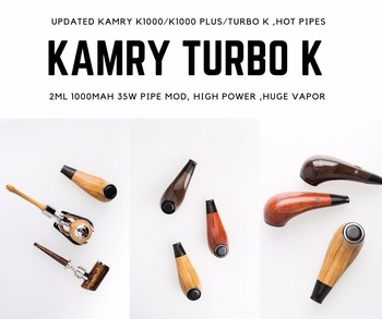 Refillable e-pipe kamry Turbo K ecigarette kit with rechargeable vape 1000mah battery