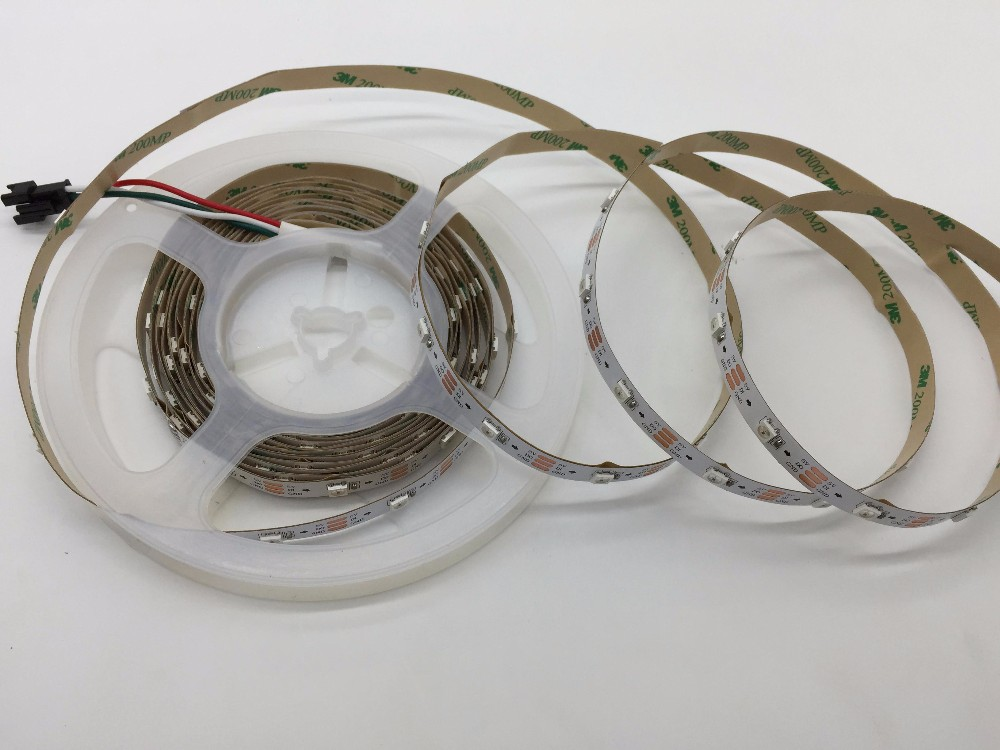 5m individually addressable LED pixel Strip 5050 WS2812B 30LEDs/M IP64 nonwaterproof white pcb