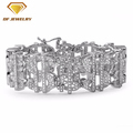 Fashion Men Jewelry Sterling Silver CZ Bracelet