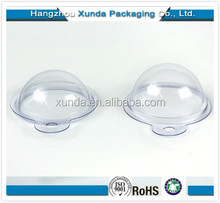 Clear plastic bath bomb clamshell packaging