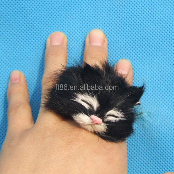Newest design Fashion cute antique silver cat cute animal ring