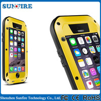 Dirtproof Waterproof Shockproof Love Mei Metal Aluminum Case For Iphone 5 5S+ Gorilla Glass