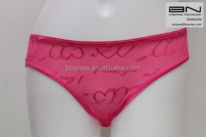 Custom Valentine's day red underwear love heart sex woman hot panties