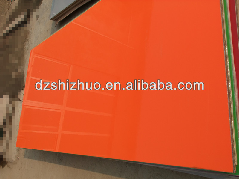 Solid color High gloss UV board/mdf price/melamine faced mdf