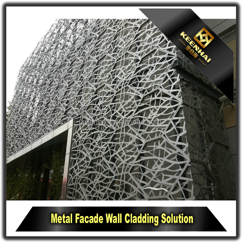 Decorative Powder Coated Aluminium Modern Design of Building Facade