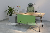 office manager desk with patent aluminum legs