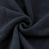 High quality navy one side anti pilling windstopper fleece fabric for cloth