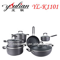 11PCS High Quality Aluminum Non-stick Hard Anodized Cookware Sets