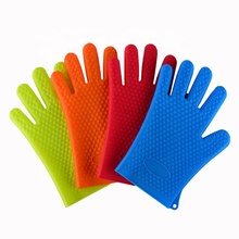 Heat Resistant Gloves Cooking Baking Grilling BBQ Silicone Gloves