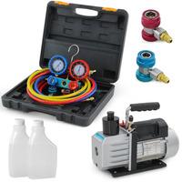 HBS 5CFM 1/2HP AC Refrigeration A/C R134A HVAC Rotary Vane Vacuum Pump