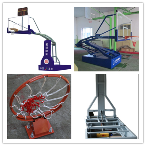 Electro-hydraulic Basketball Stand Indoor Basketball Competition stand